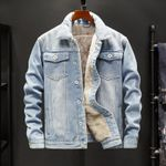 slim  denim jacket  and coats thick very warm