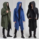 Cardigan Hoodie Warm Hooded Solid Coat Jacket Burning Man