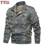 Denim Jacket Military Tactical Jeans jacket Solid
