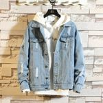 Fashion Denim Jacket Casual Bomber Hip Hop Retro Denim Jacket