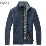 Casual Sweater Coats  High Collar Pockets Knit Outwear Coat Sweater