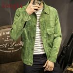 Style Corduroy Jacket Hip Hop Streetwear Windbreaker
