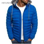 Windproof Warm Packable Casual Jacket Hooded Coat Casual