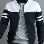 Jacket Large Size Fashion  Zipper Sportswear Patchwork Jacket