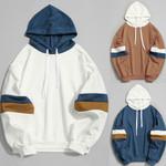Hooded Shirt Sweatshirt Stitching Parallel  Slim Jacket