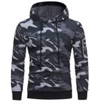 Camouflage  Hoodie Sweatshirts Sport Zipper Pullover Tops Hoodies
