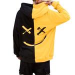 Smiling Face Print Hoodie Sweatshirt
