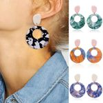 Earrings Drop Big Bohemian Accessories Geometric