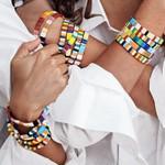 Flatfoot Boho Enamel Bangle Bracelets