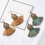 Antique Boho Bohemian Ethnic Handmade Tassel Drop Earrings