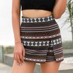 Colorful Geometric Patterns Girls Ladies  Shorts Boho