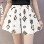 Shorts Bohemian Elastic High Waist Floral Print Shorts Skirts