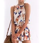 Blouses Floral Print Female Suits 2 Pieces Tops & Shorts