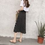 Long High Waist Elastic Female Retro Skirt  Chic Boho Beach Skirts