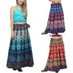 Fashion Multicolor Feather Print Skirt
