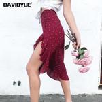 bohemian moon star floral print midi skirt