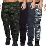 Camouflage Casual Fitness Trousers  Winter Warm Drawstring Pants