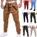 Casual Joggers Solid Thin Cargo Sweatpants Trousers Pants