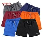 Polyester Shorts foSolid Breathable Elastic Waist Casual Shorts