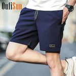 Casual Solid Breathable Elastic Waist Fashion Casual Shorts