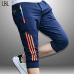 Casual Striped Sportswear Sweatpants Jogger Shorts