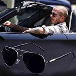 Aviation Metail Frame Quality Oversized Spring Sunglasses