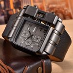 Casual Wristwatch Square Dial Wide Strap Luxury Watches