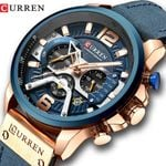 Casual Sport Blue Luxury Military Leather Wrist Watches
