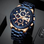 Business Luxury Steel Wrist Chronograph Army Military Quartz Watches