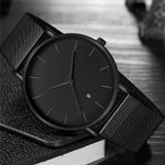 Black Business Style Wristwatches Stainless Steel Watches