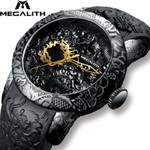 Fashion Gold Dragon Sculpture Waterproof Sport Watches