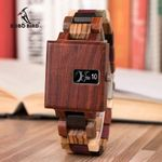 New Design Watch Ebony Delicate Square Wood Watches