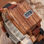 Square Creative Turntable Digital Dial Male Wood Watches