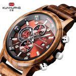 Casual Fashion Stylish Chronograph Quartz Sport Outdoor Wood Watches