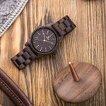 Quartz Minimalist Retro Raw Sandal  Bracelet Wood Watches
