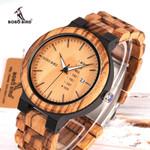 Relogio masculino Week Display Date Wood Watches