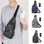 Fashion Casual Outdoor Sports Chest USB Charge Shoulder Handbags
