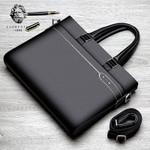 Genuine Leather Business Laptop Briefcase Shoulder Handbags