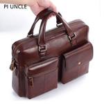 Brand Genuine Leather Vintage Briefcase Messenger Handbags