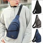 Local stock Chest Anti-Theft Sling Pack USB Charge Port Handbags