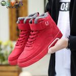 Warm Velvet High Top Sneakers Boots