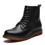 Genuine Leather Motorcycle Ankle Couple Oxfords Boots