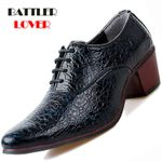 Dress  Crocodile Leather High Heels Fashion Pointed Oxford Shoes