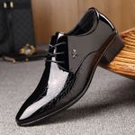 New luxury patent leather pointed Oxford Shoes