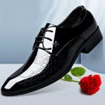 New  luxury patent leather pointed toe Oxford Shoes
