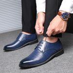 Party leather zapatos formal social masculino Oxford Shoes