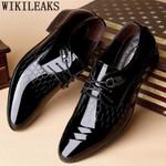 Designer crocodile formal zapatos Oxford Shoes
