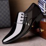 Luxury Brand Classic Pointed Patent Leather Oxford Shoes