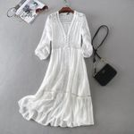 Tunic Sundress Lace Holiday Clothes Boho Bohemian Dress