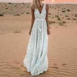 Elegant Vintage Fashion Sleeveless Boho Bohemian Dress